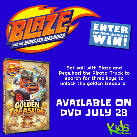 BLAZE AND THE MONSTER MACHINES: RACE FOR THE GOLDEN TREASURE DVD Contest