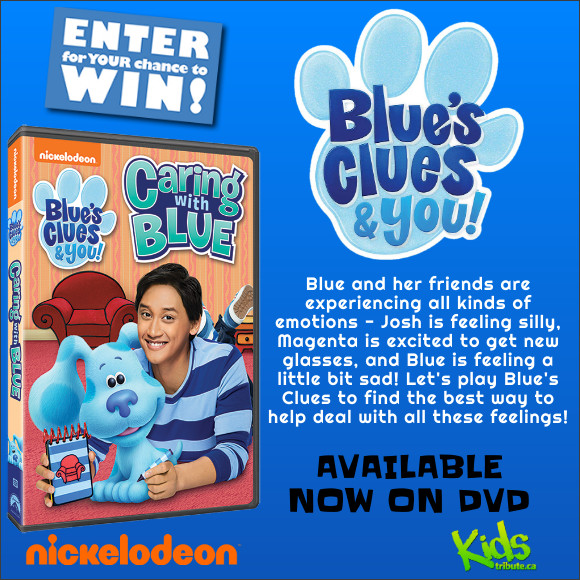 BLUE'S CLUES & YOU! CARING WITH BLUE DVD Contest