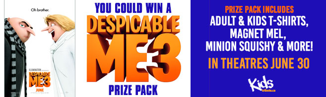 Despicable Me 3 Prize Pack contest