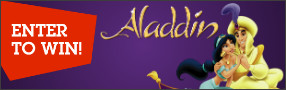 """Enter for your chance to win """"DISNEY'S ALADDIN SIGNATURE COLLECTION"""" on Blu-ray. Disney's original animated classic """"Aladdin"""" is on in 4K Ultra HD™ and Digital in HD Aug. 27 and on and Blu-ray™ Sept. 10 Banner"""