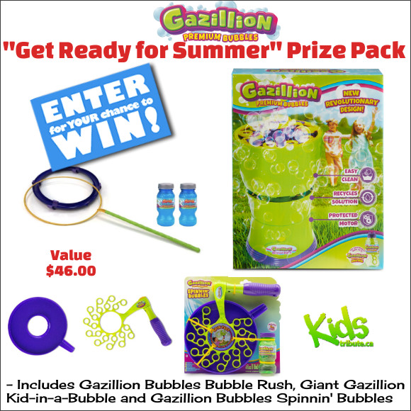 """GAZILLION BUBBLES """"GET READY FOR SUMMER"""" Prize Pack Contest"""