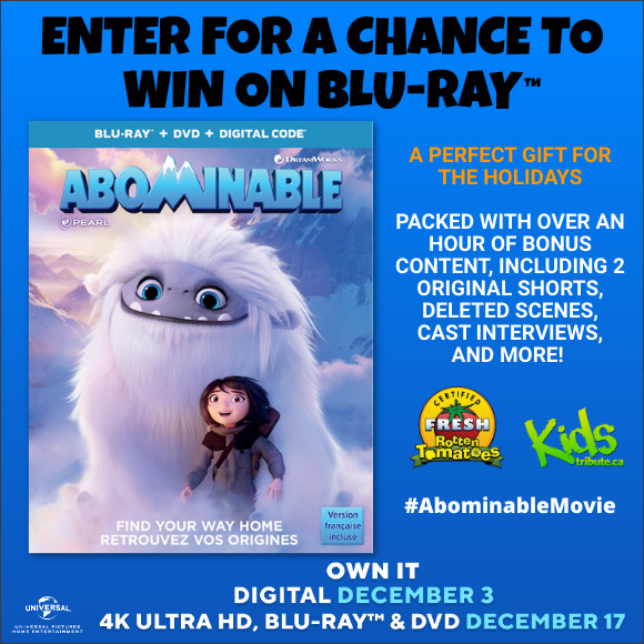 Kids Tribute ABOMINABLE Blu-ray contest