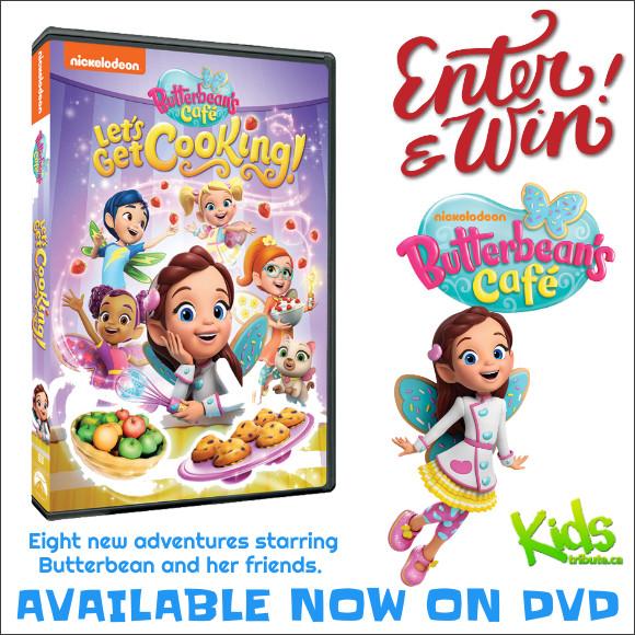 Kids Tribute BUTTERBEAN'S CAFÉ LET'S GET COOKING! DVD contest