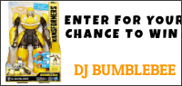 Enter for your chance to win a Hasbro DJ Bumblebee toy. Value $59
