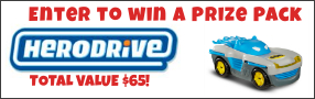 "Enter for your chance to win a ""HERODRIVE Prize Pack"". Includes four Herodrive cars with a value over $65 Banner"