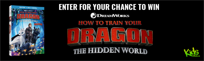 Kids Tribute HOW TO TRAIN YOUR DRAGON: HIDDEN WORLD Blu-ray contest