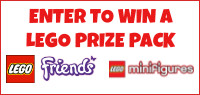 Enter for your chance to win a LEGO PRIZE PACK including LEGO FRIENDS & LEGO MINIFIGURES.