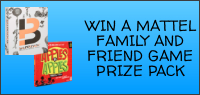 Enter for your chance to win a MATTEL GAME PRIZE PACK.