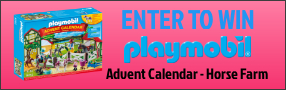 Enter for your chance to win a PLAYMOBIL ADVENT CALENDAR - HORSE FARM. Poster