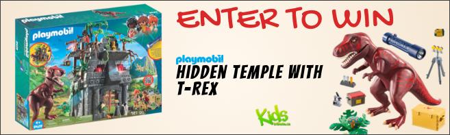 Kids Tribute & PLAYMOBIL HIDDEN TEMPLE WITH T-REX Building Set contest