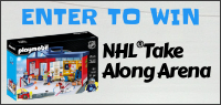 Enter for your chance to win a PLAYMOBIL NHL TAKE ALONG ARENA.
