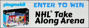 Enter for your chance to win a PLAYMOBIL NHL TAKE ALONG ARENA. Poster