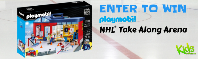 Kids Tribute PLAYMOBIL NHL TAKE ALONG ARENA contest