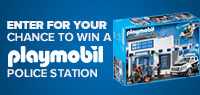 Enter for your chance to win a PLAYMOBIL POLICE STATION.