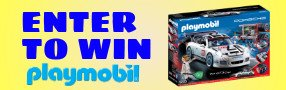 Enter for your chance to win a PLAYMOBIL Porsche 911 GT3 Cup. Set includes two figures, Porsche car with sponsor decals, mechanic tools, spare tire, racing flag, helmet, and tons of other accessories. Value $70 Poster