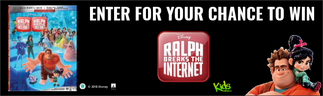 Kids Tribute RALPH BREAKS THE INTERNET Blu-ray contest