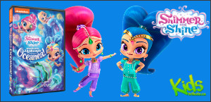 Kids Tribute SHIMMER AND SHINE: SPLASH INTO ZAHRAMAY OCEANEA! DVD contest