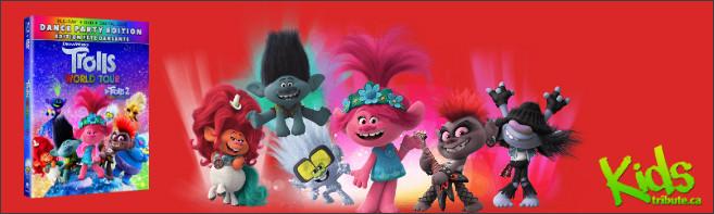 Kids Tribute TROLLS WORLD TOUR Blu-ray Contest