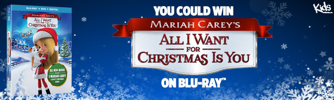 Mariah Carey's All I Want For Christmas Is You Blu-ray contest