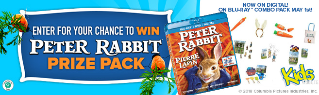 Peter Rabbit Blu-ray and Prize Pack contest