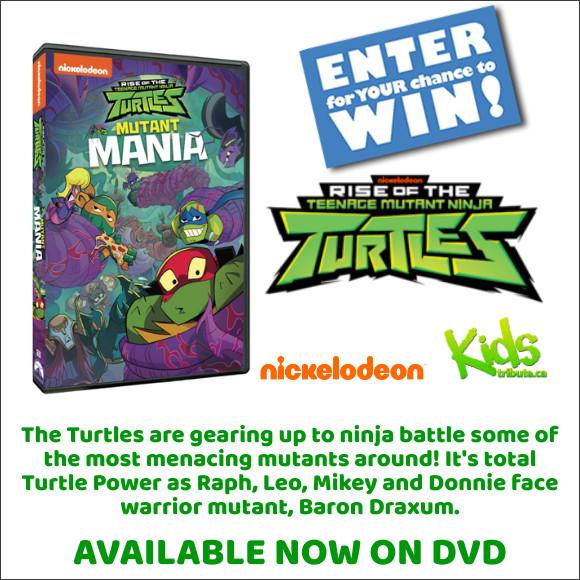 RISE OF THE TEENAGE MUTANT NINJA TURTLES: MUTANT MANIA DVD Contest