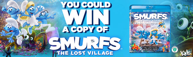 Smurfs The Lost Village Prize Pack and Blu-ray contest