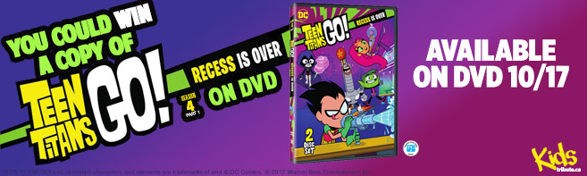 Teen Titans Go! Recess is Over DVD contest